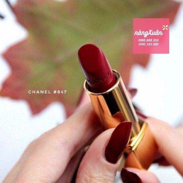 Son Chanel 847 màu Đỏ Rượu