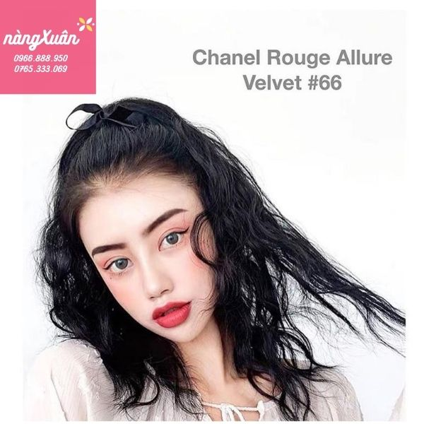 Swatch Son CHANEL Lindomabile Rouge Allure Velvet - Màu Đỏ San Hô