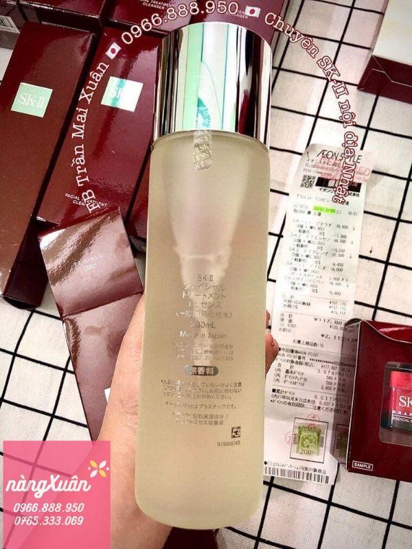 SK-II Nội địa Nhật 230ml bill Aeon Mall, Dùng nước thần skii bị nổi mụn hay không?