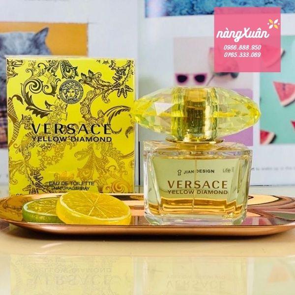 Nước hoa Versace Yellow Diamond EDT bám hương tost, tỏa hương xa
