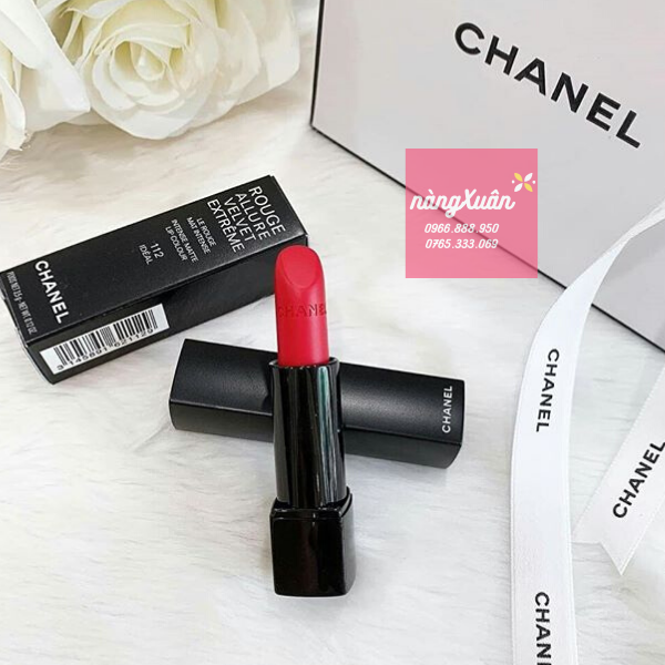 son Chanel màu đỏ tươi dòng Rouge Allure Velvet Extreme 112