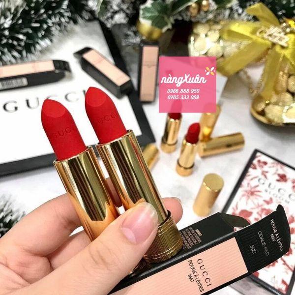 Gucci Rouge A Levres Mat Lipstick màu đỏ cam