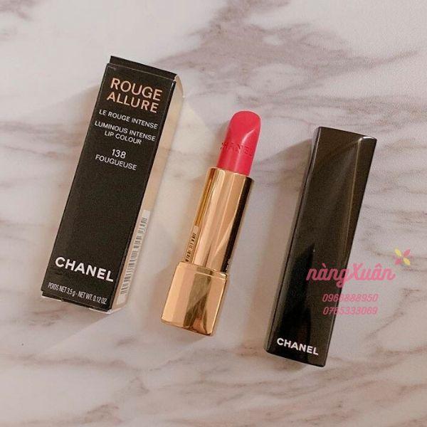 Son Chanel 138 Fouguese màu hồng tươi chính hãng