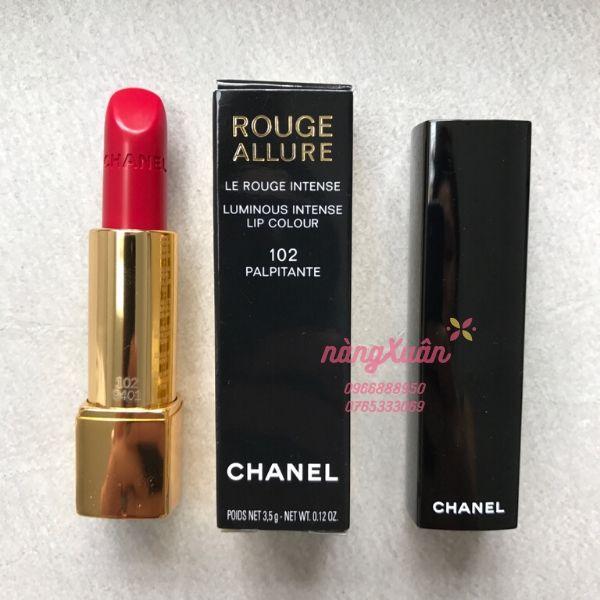 Son Chanel 102 Palpitante Rouge Allure màu đỏ hồng chính hãng