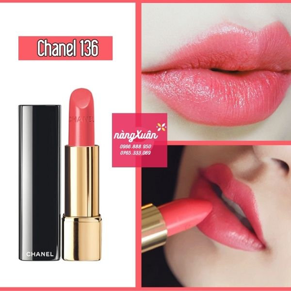 Swatch son Chanel 136 Melodieuse màu hồng baby