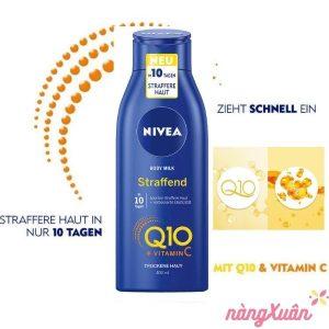 Dưỡng thể NIVEA Q10 VITAMINC C cho da khô
