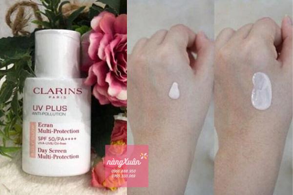 CLARINS Rosy Glow UV Plus Anti-Pollution màu hồng