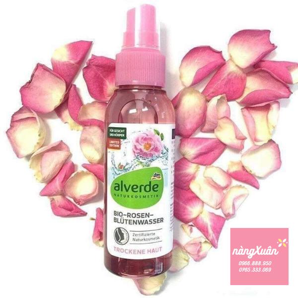 Toner Alverde Bio Rosen Blutenwasser 100 ml