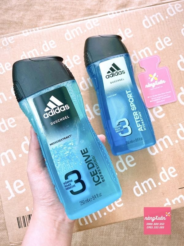 Sữa tắm gội Adidas 3in1 After Sport