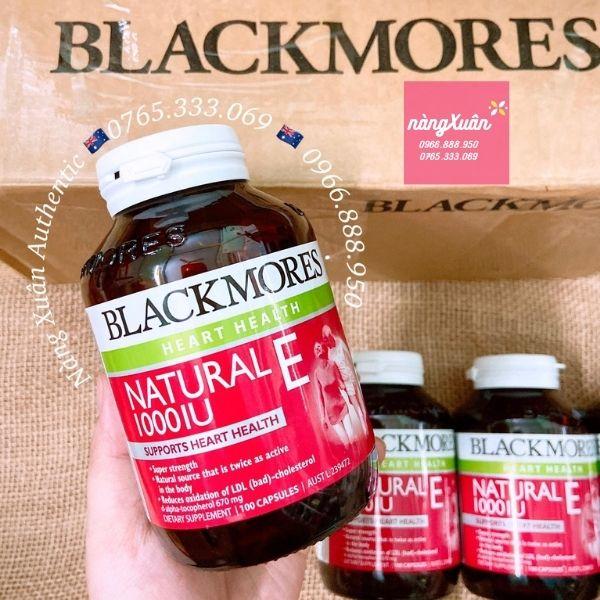 Viên uống Vitamin E Blackmores 100 viên chính hãng Úc về hàng từ BLACKMORES ÚC