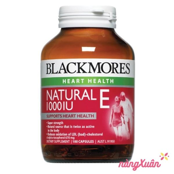 Vitamin E Blackmores 1000IU 100 viên Úc