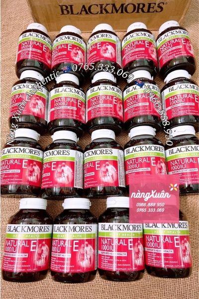 Vitamin E của Blackmores Úc có hàm lượng Vitamin E 1000 IU cao nhất trong tất cả các sản phẩm viên uống Vitamin E hiện nay.