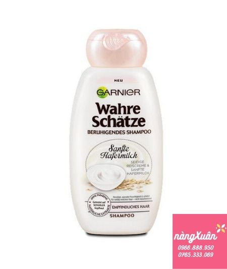 Dầu gội Garnier Wahre Schatze Sanflte Hafermilch Shampoo chính hãng nội địa Đức