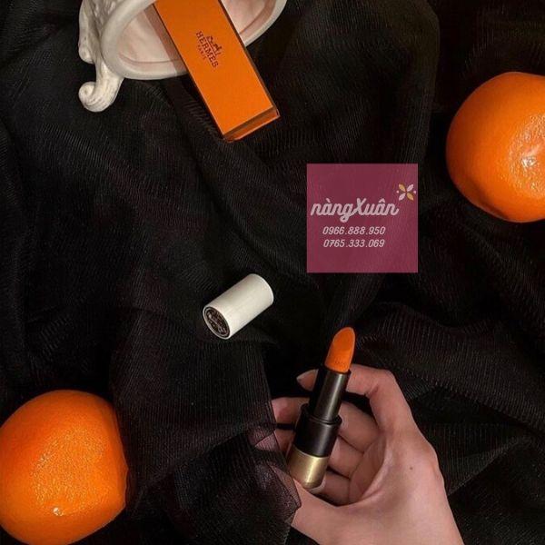 Review son HERMES Rouge Matte Orange Boite
