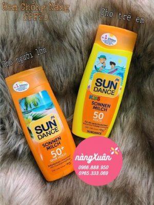 Kem chống nắng cho bé Sun Dance Kids Sonnen Milch Spf50 (Đức) tại NÀNG XUÂN AUTHENTIC là hàng nội địa Đức chính hãng.