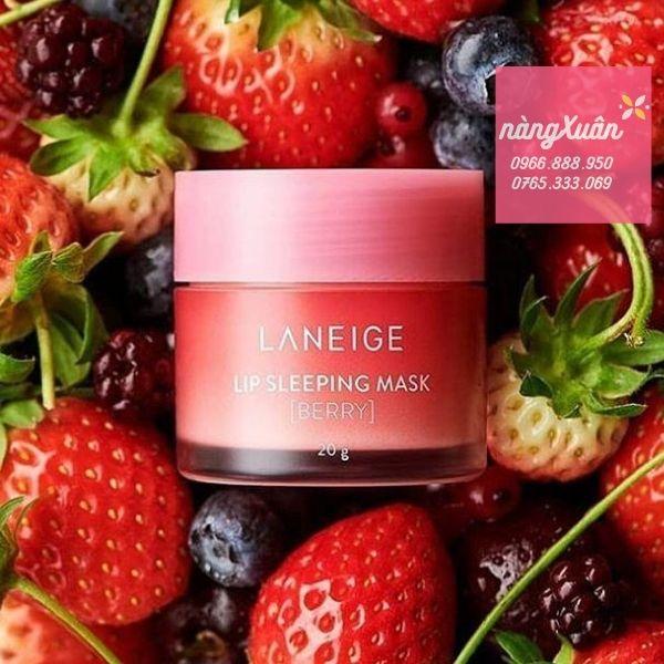 Review mặt nạ ngủ môi Laneige Berry Fullsize chính hãng