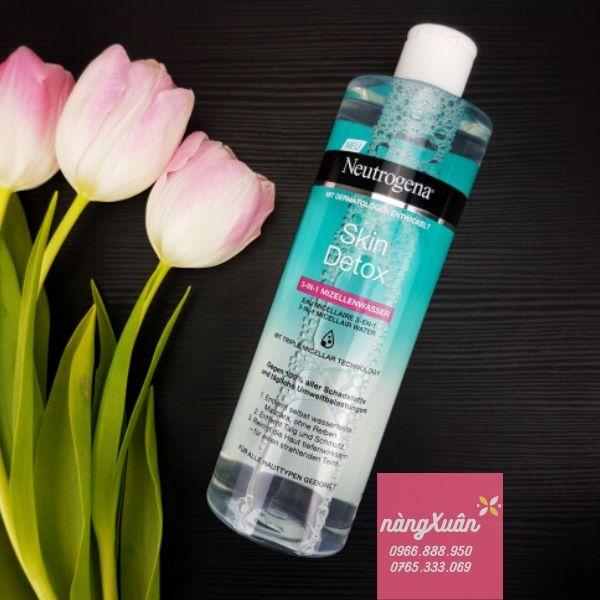 Nước tẩy trang Neutrogena Skin Detox 3in1 Micellar Water