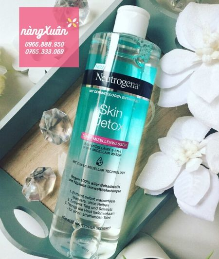 Giá tẩy trang Neutrogena Skin Detox 3in1 Micellar Water