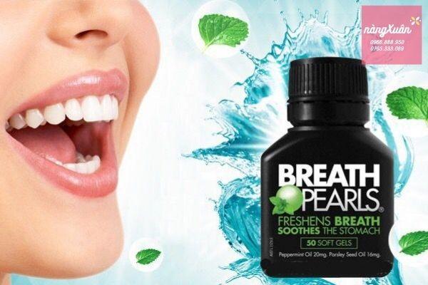 Viên uống điều trị hôi miệng Breath Pearls