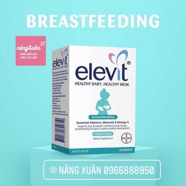 Review Elevit Breastfeeding sau sinh 30 viên chính hãng