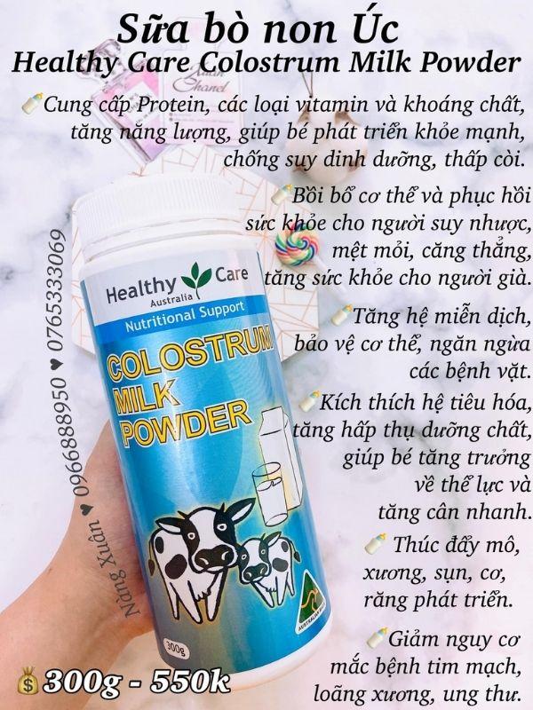 Công dụng của Sữa Healthy Care của Úc