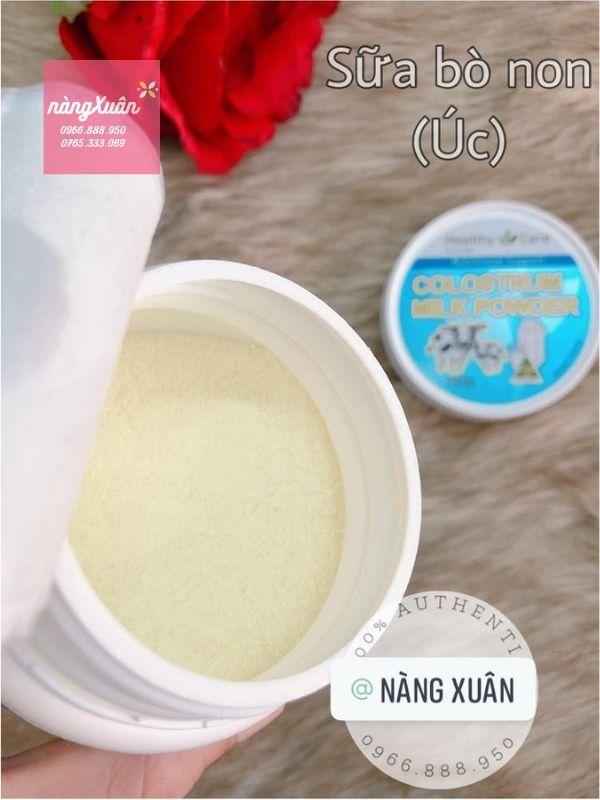 Sữa Bò Non Healthy Care có hạt nhuyễn mịn