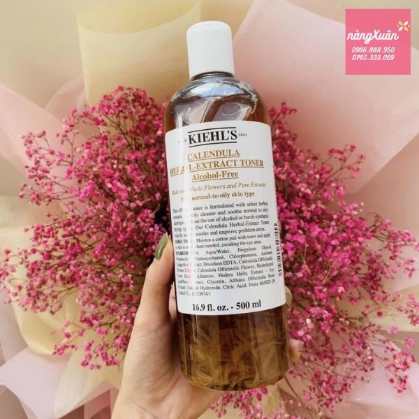 Review toner hoa cúc Kiehls Calendula