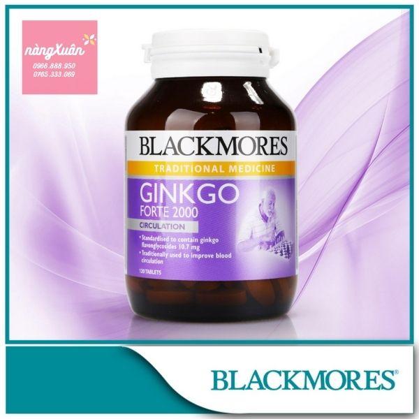 Viên uống bổ não Blackmores Ginkgo Forte chiết xuất bạch quả
