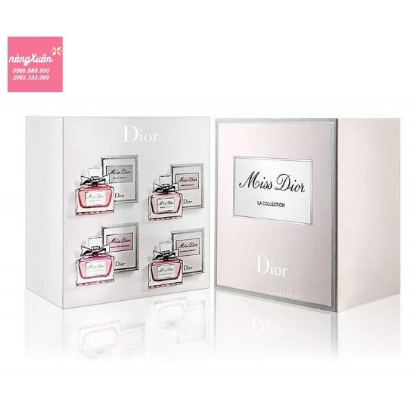 Set nước hoa DIOR mini MISS DIOR La Collection 4 chai