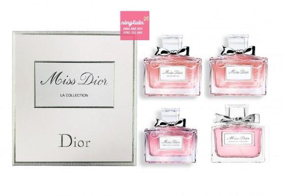 Set 4 chai nước hoa Dior mini