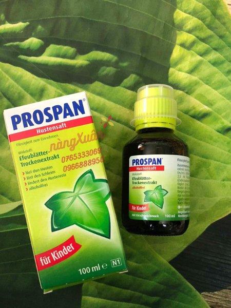 Siro ho Prospan trị ho hiệu quả với thành phần từ thảo dược.