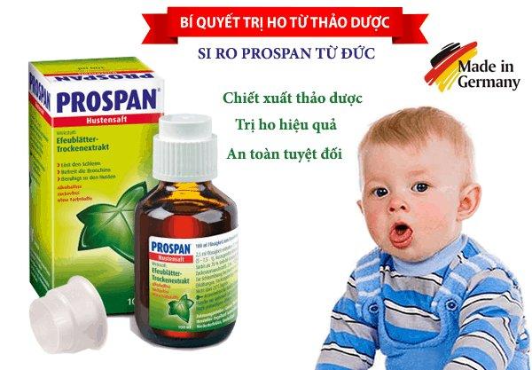 Thuốc ho Prospan chính hãng của Đức an toàn và lành tính cho cả trẻ sơ sinh và trẻ nhỏ.