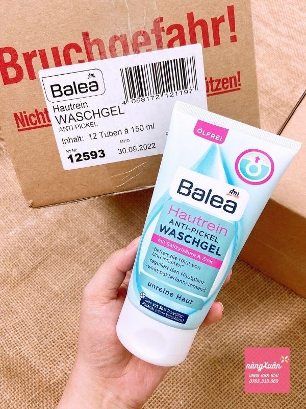 Sữa rửa mặt Balea Hautrein Anti Pickel Waschel chính hãng