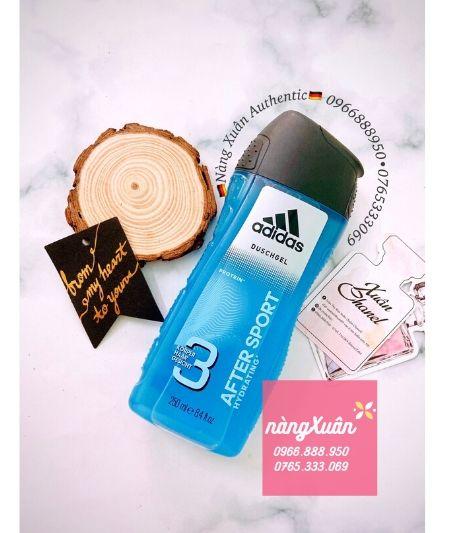 Sữa tắm gội Adidas 3in1 After Sport Duschgel