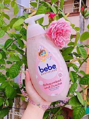 Review Tắm gội 2in1 cho bé Bebe Zartpflege Schaumbad Und Dusche (Đức) mua ở đâu, giá bao nhiêu? Địa chỉ mua Tắm gội 2in1 cho bé Bebe chính hãng ở Nàng Xuân Authentic