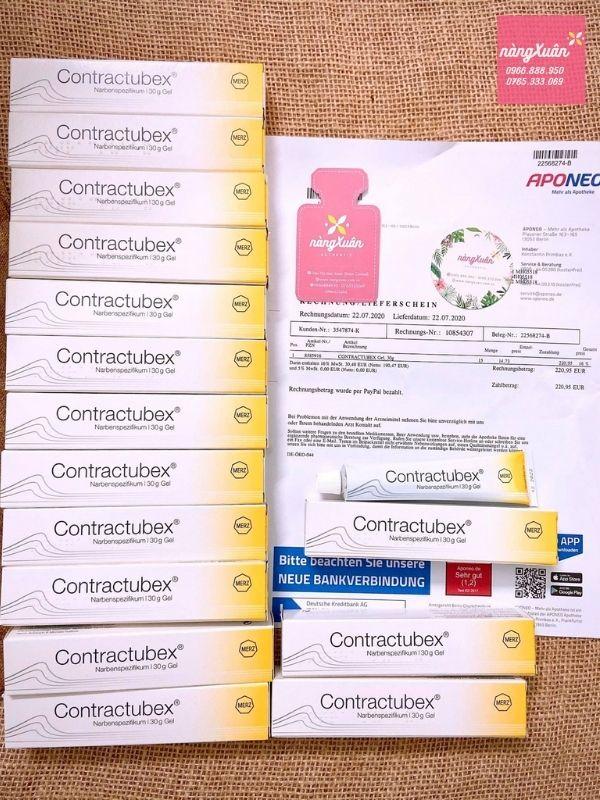 Thuốc trị sẹo Contractubex Nàng Xuân mua tại nhà thuốc APONEO nội địa Đức có bill chuẩn
