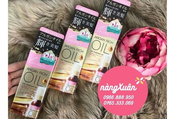 Review dầu dưỡng tóc Lucido-L Argan Rich Oil chính hãng