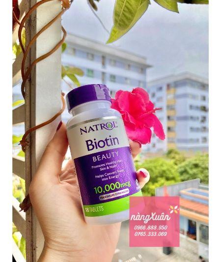 Viên uống mọc tóc Biotin Natrol của Mỹ
