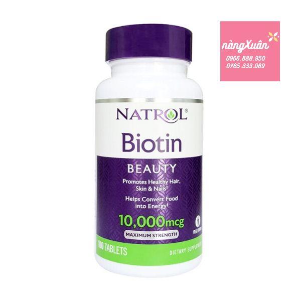 Viên uống mọc tóc Natrol Biotin Beauty của Mỹ.