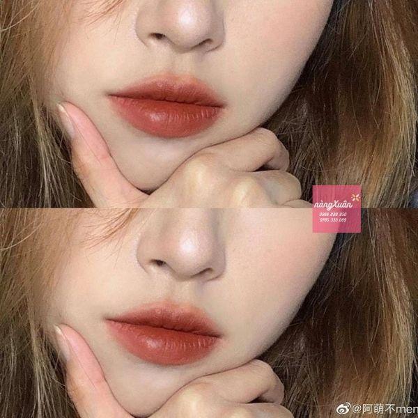 Son lên màu chuẩn với hiệu ứng căng mịn môi.