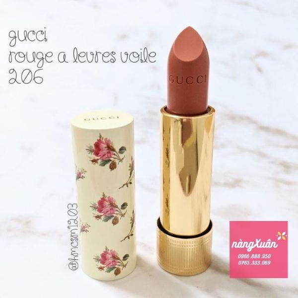 Son Gucci Rouge À Lèvres Voile màu Cam Đất