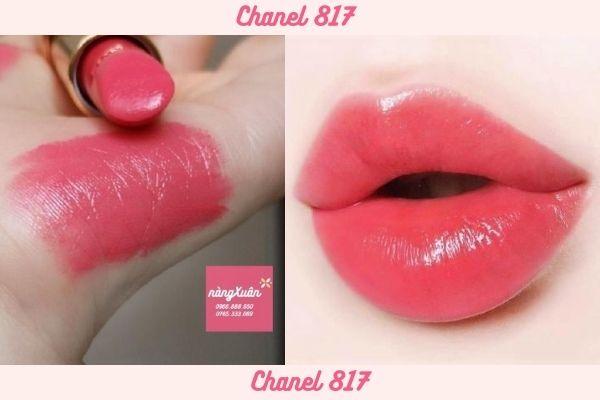Swatch Son Chanel 817 Luminous Intense màu hồng tươi