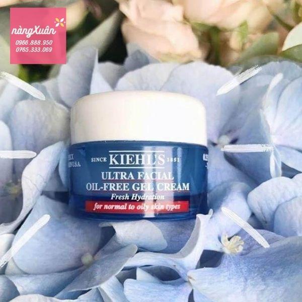 Review kem dưỡng ẩm dạng gel Kiehls Ultra Facial Oil Free mini