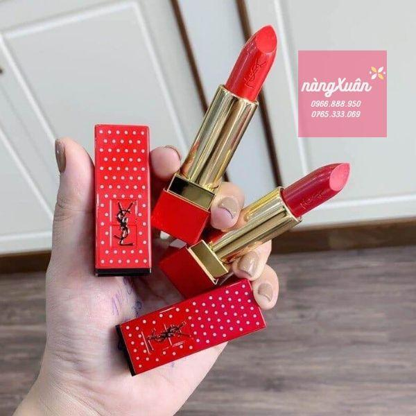 Hình ảnh thật son YSL Rouge Pur Couture 01 và 13