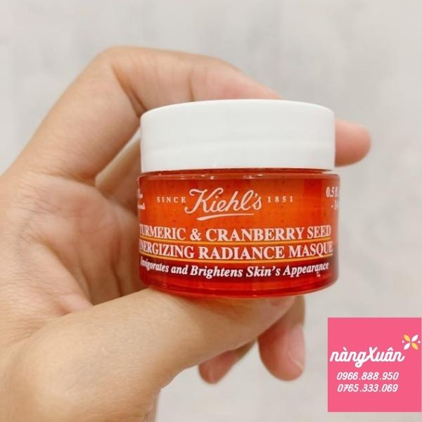 Mặt nạ nghệ Kiehl's Turmeric Cranberry Masque size mini 28ml