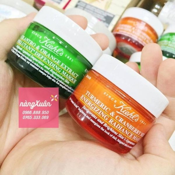 Review mặt nạ nghệ Kiehl's Turmeric Cranberry Masque size mini 28ml