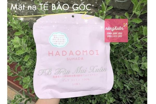 Mặt nạ tế bào gốc Hadaomoi Suhada Nhật Bản Hồng chính hãng