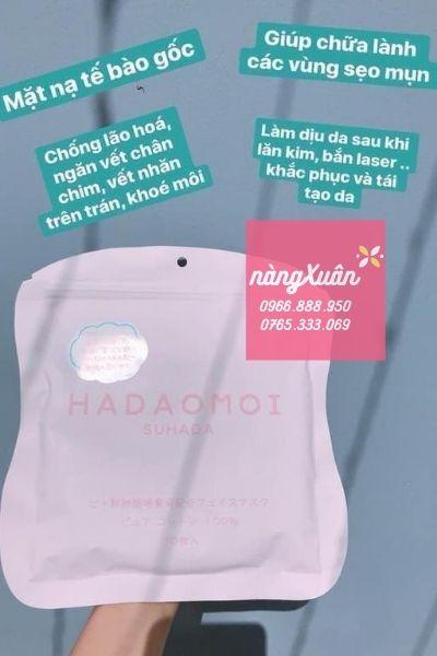 Công dụng mặt nạ tế bào gốc Hadaomoi Suhada Nhật Bản Hồng chính hãng
