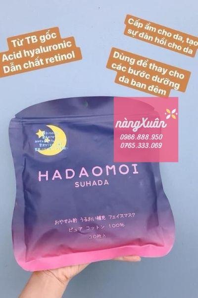 Công dụng mặt nạ tế bào gốc Hadaomoi Suhada màu tím chính hãng