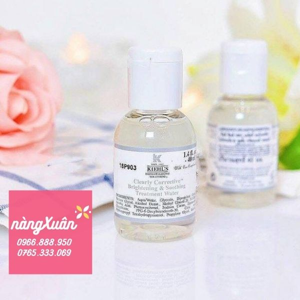 Review nước hoa hồng Kiehl's trắng da Clearly Corrective Brightening Soothing Treatment Water mini size 40ml